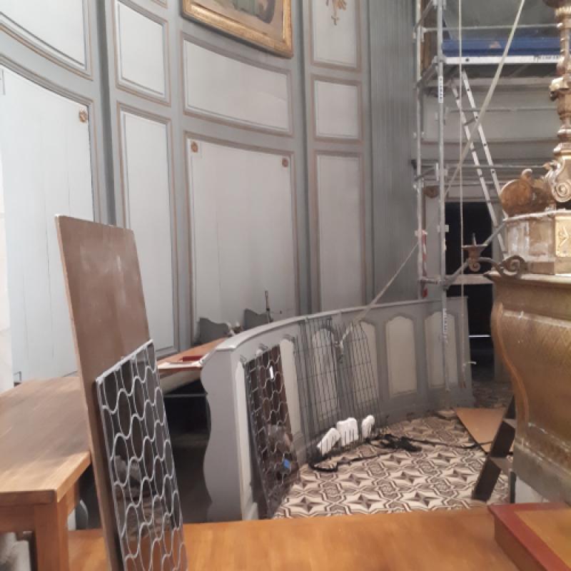 Restauration de vitraux du coeur