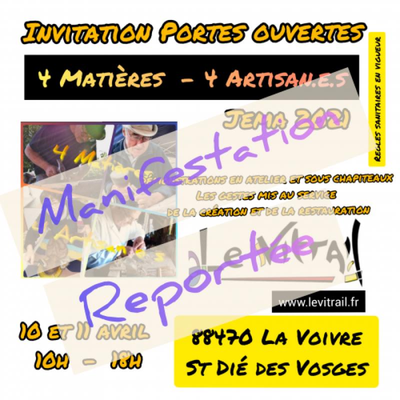4 Matières 4 Artisan.e.s Manifestation reportée